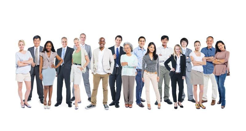 Povos ocupacionais diversos no fundo branco fotografia de stock royalty free