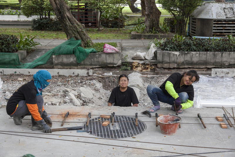 Povos pobres de Banguecoque imagens de stock
