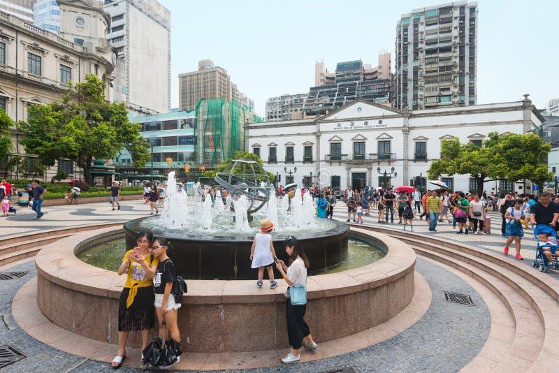 Povos por casos cívicos e municipais departamento, Macau imagens de stock royalty free