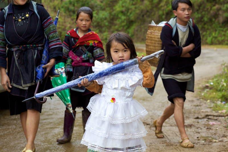 Povos pretos da minoria étnica de H'mong fotografia de stock royalty free