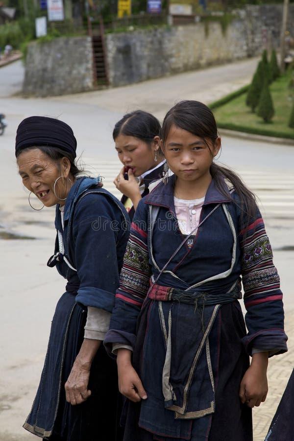Povos pretos da minoria étnica de H'mong fotos de stock royalty free