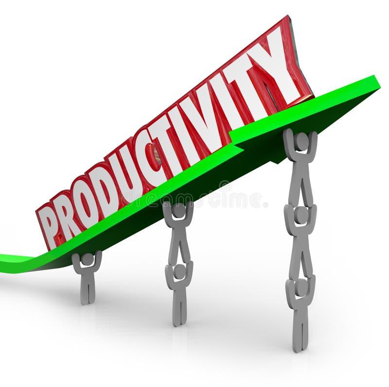 Povos produtivos dos trabalhos de equipa eficientes da produtividade que trabalham Togeth ilustração stock