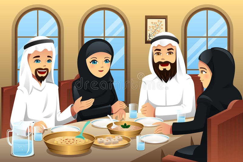 Povos que comemoram o Eid-Al-fitr ilustração stock