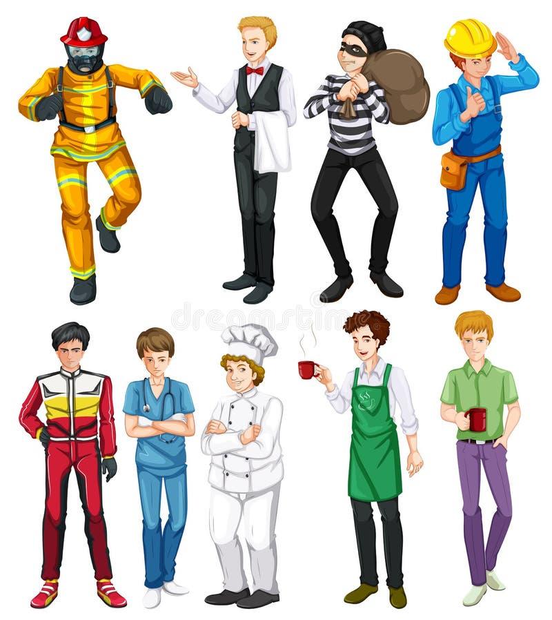 Povos que fazem ocupações diferentes ilustração royalty free