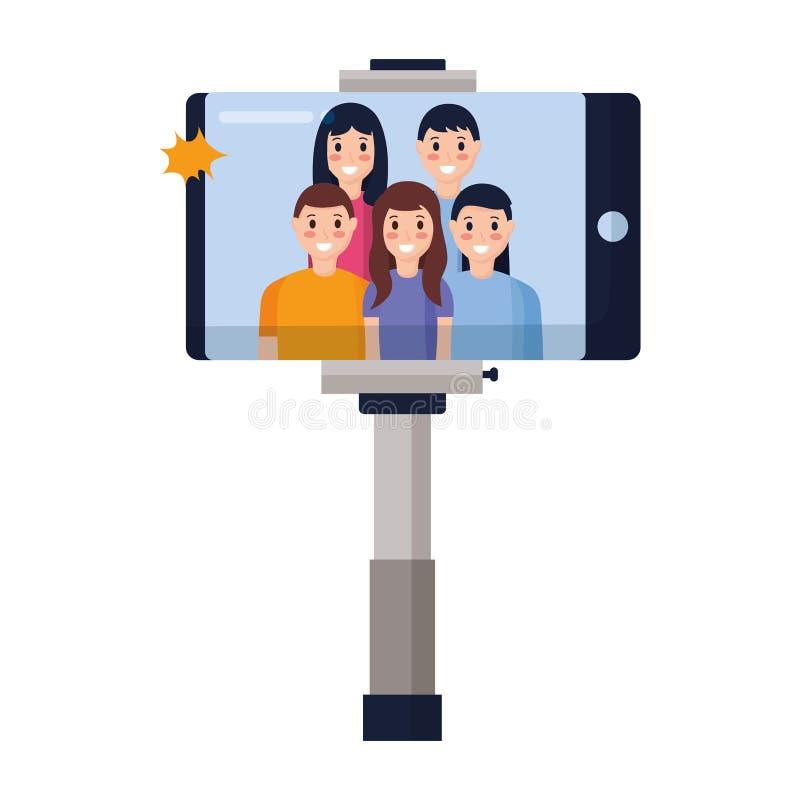 Povos que tomam Selfie ilustração royalty free