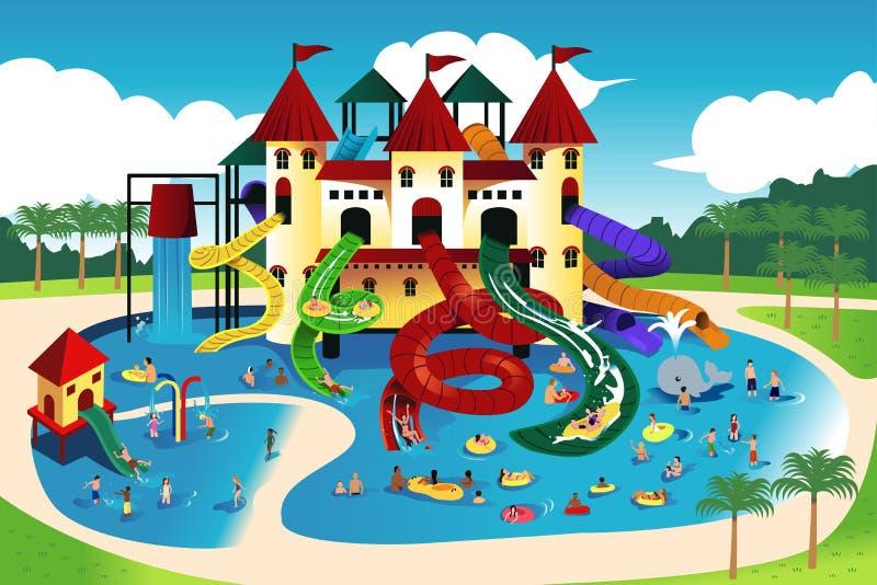 Povos que vão molhar o parque ilustração royalty free