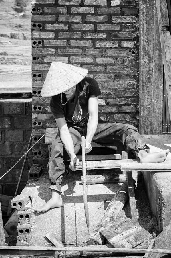 Povos reais em Vietname (preto e branco) fotos de stock