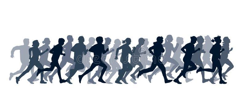 Povos Running ilustração stock