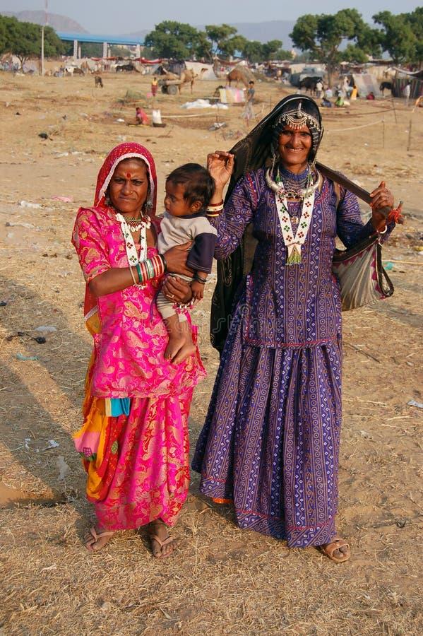 Povos rurais de Pushkar fotos de stock