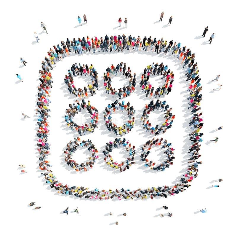 Povos sob a forma de um símbolo abstrato ilustração do vetor
