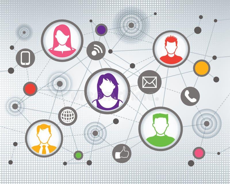 Povos sociais de uma comunicação ilustração royalty free