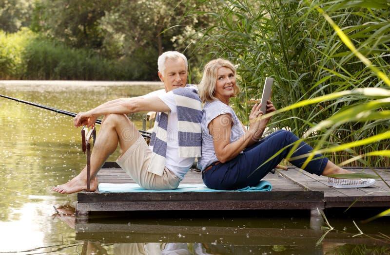 Povos superiores felizes fotos de stock royalty free
