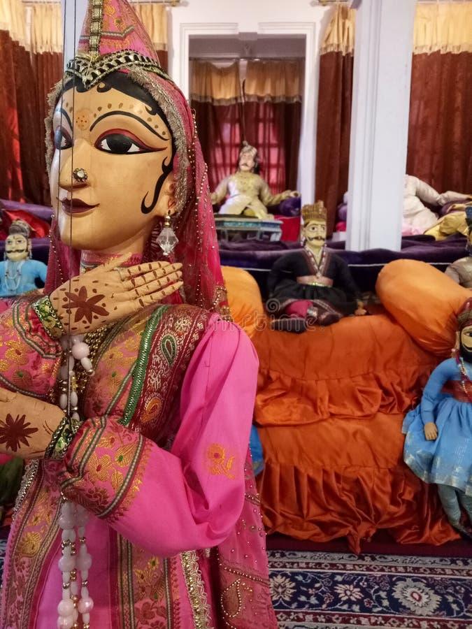 Povos tradicionais indianos Art Puppets fotos de stock