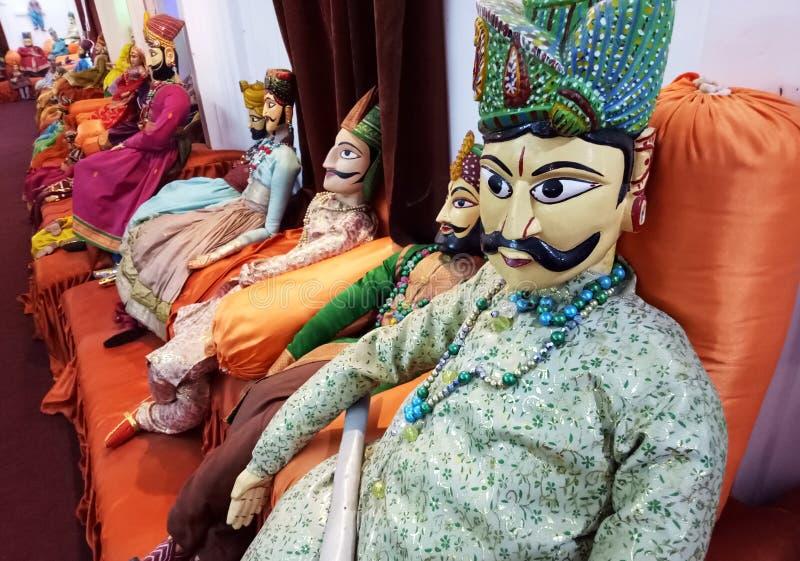 Povos tradicionais indianos Art Puppets fotografia de stock royalty free