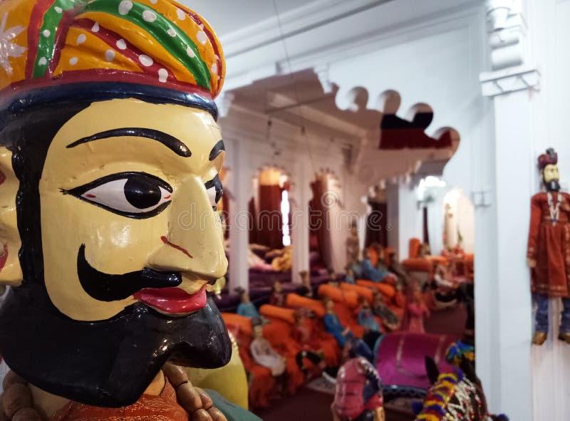 Povos tradicionais indianos Art Puppets foto de stock