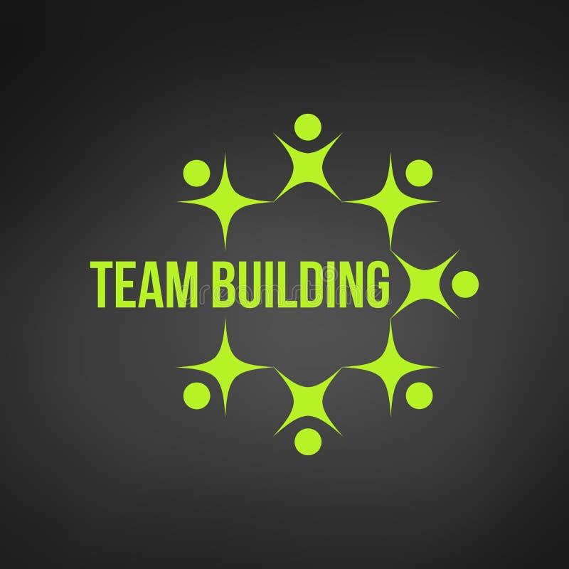 povos verdes abstratos junto como trabalhos de equipe do círculo ou o logotipo teambuilding do conceito trabalho da equipe e dese ilustração royalty free