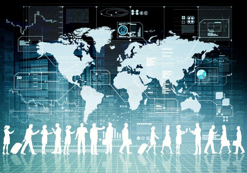 Povos virtuais do negócio do Internet ilustração royalty free