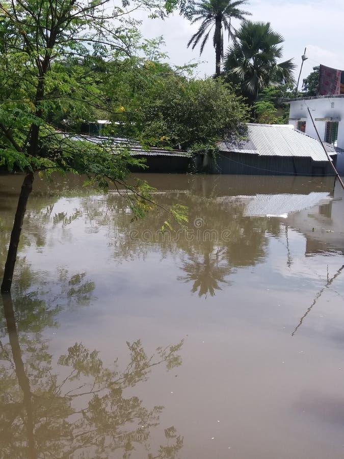 Powódź afektowany Bangladesz fotografia royalty free
