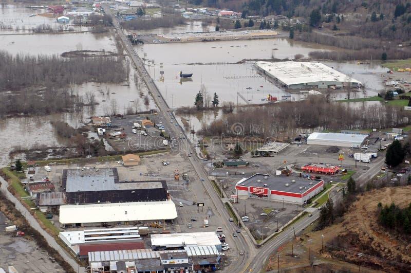 powódź stan Washington obraz stock