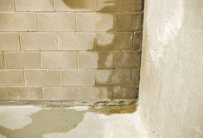 Powódź w mój budynku fotografia royalty free