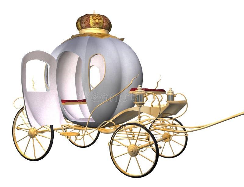 powóz jest Cinderella ilustracja wektor