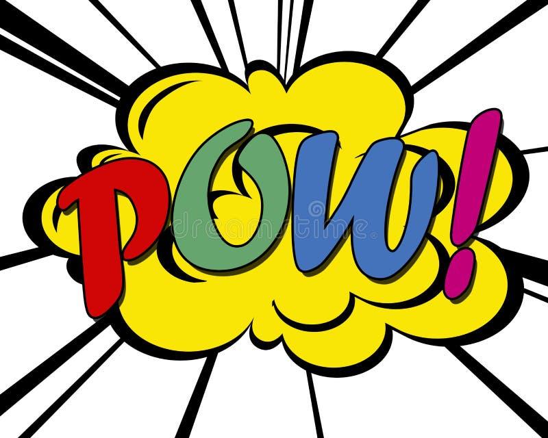 Pow! royalty ilustracja