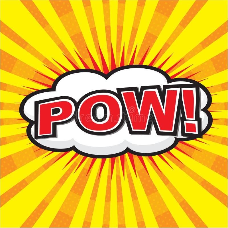 POW! komiczny słowo ilustracja wektor