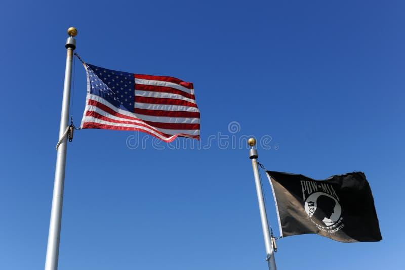 pow mia американских флагов стоковые изображения