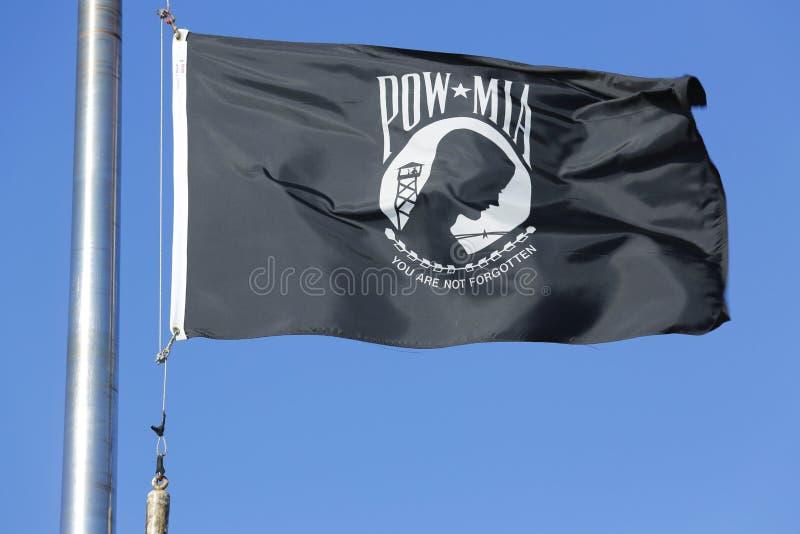 POW/MIA-flagga i Brooklyn royaltyfria bilder