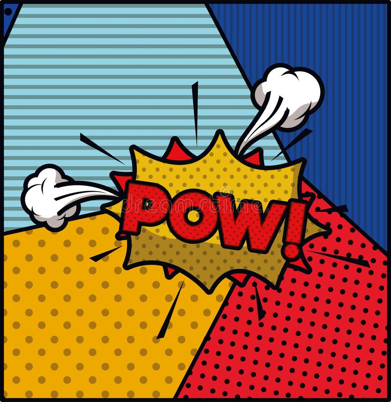 Pow word pop art style expression vectoR vector illustration