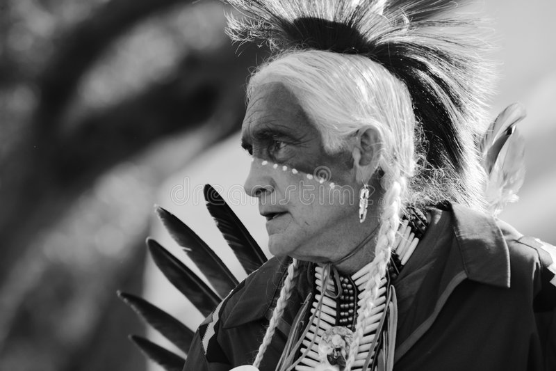 Pow Wow 27 BW Editorial Photo
