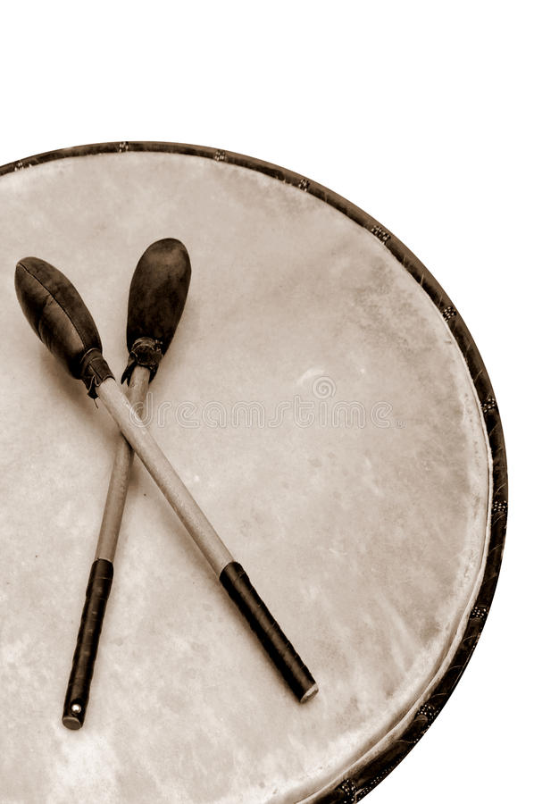 Download Pow Wow Drum stock photo. Image of bass, sepia, native - 12334858