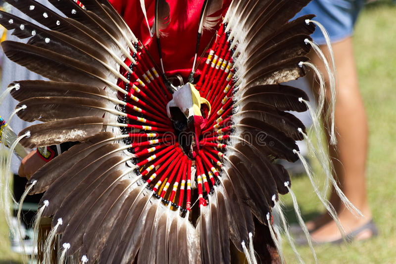 Native American Pow Wow in Kahnawake 27th Annual Echoes Of A Proud Nation-Stock photos. Kahnawake, Quebec, Canada - July 9, 2017 : Pow Wow in Kahnawake Reserve royalty free stock images