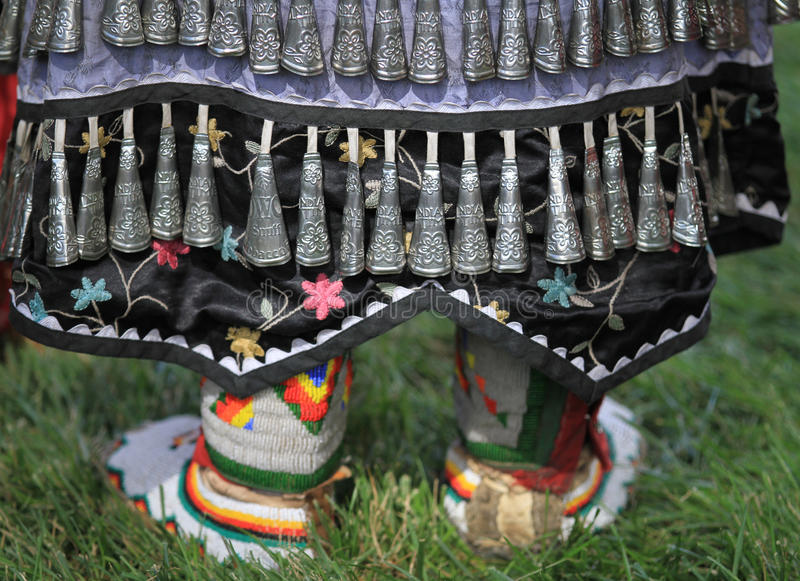 Pow wow moccasins and jingles royalty free stock image