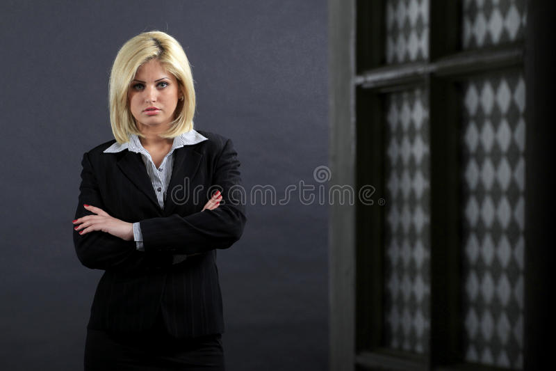 poważna bizneswoman kobieta fotografia royalty free