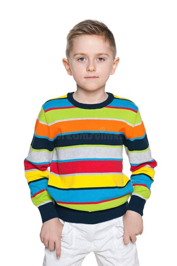 Poważna mod potomstw chłopiec obrazy stock