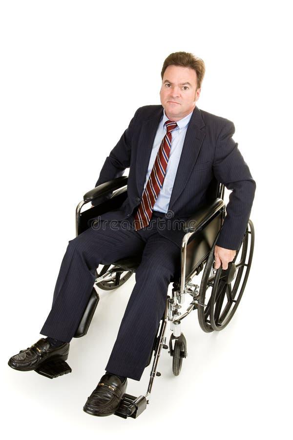 poważnie niepełnosprawnych biznesmena obrazy royalty free