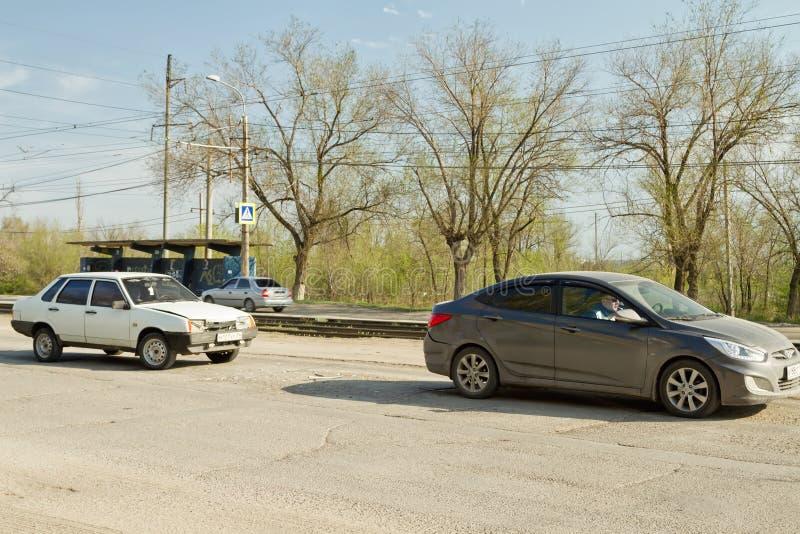 Poważny drogowy wypadek uliczny obrazy stock