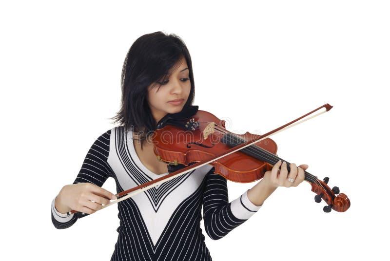 poważny gracza skrzypce zdjęcie stock