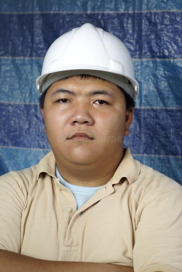 poważny inżyniera azjatykci portret zdjęcia stock