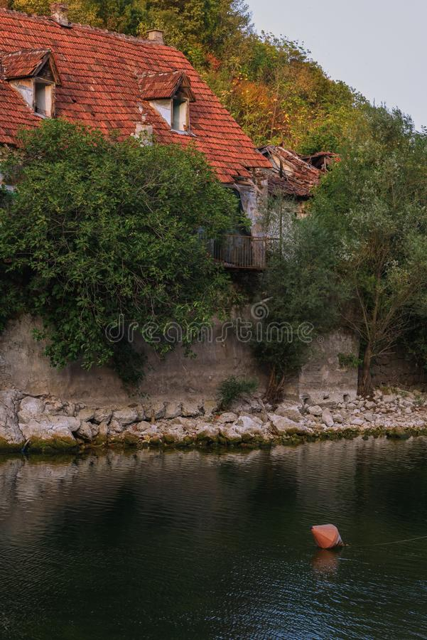 Powabna natura Montenegro w Sierpień obrazy royalty free