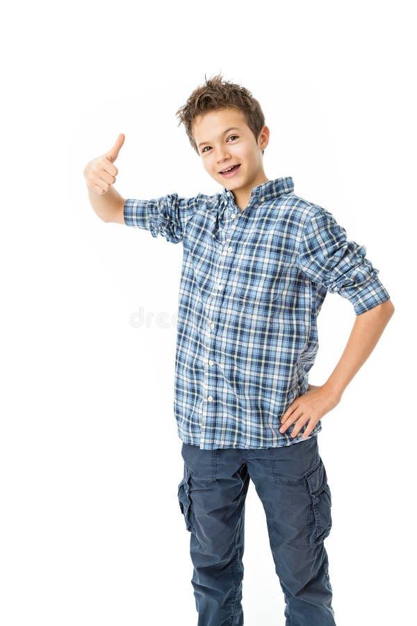 Powabny nastoletni chłopak zdjęcie royalty free