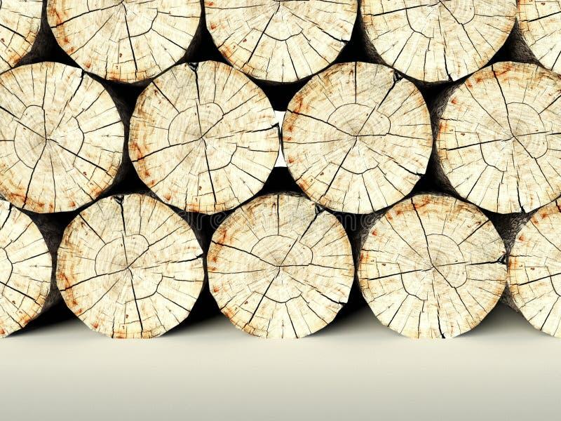 Powalać drzewni fiszorki, 3d tło obrazy stock