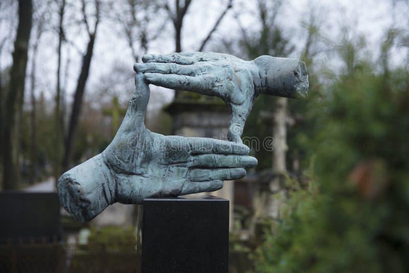 Powazki Cemetery, Warsaw, Poland, Europe, December 2018, Grave of film director Krzysztof Kieslowski. Powazki Cemetery, Warsaw, Poland, Europe, December 2018 stock image