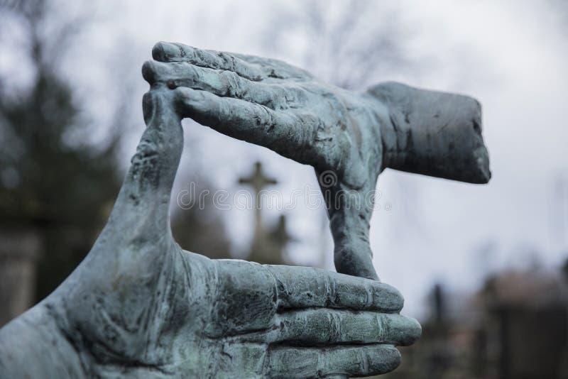 Powazki Cemetery, Warsaw, Poland, Europe, December 2018, Grave of film director Krzysztof Kieslowski. Powazki Cemetery, Warsaw, Poland, Europe, December 2018 stock images