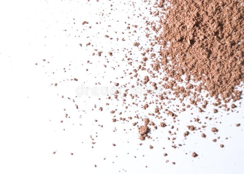 Powder Foundation Or Bronzer. Foundation, or bronzer on white background royalty free stock image