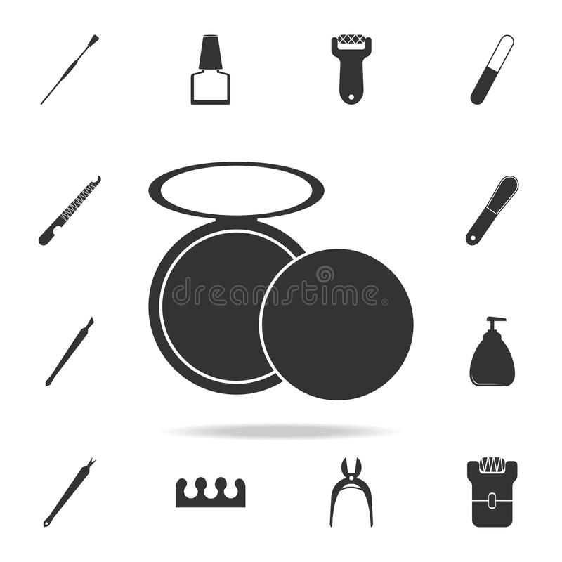 Powder icon. Detailed set of Beauty salon icons. Premium quality graphic design icon. One of the collection icons for websites, we. B design, mobile app on white stock photos