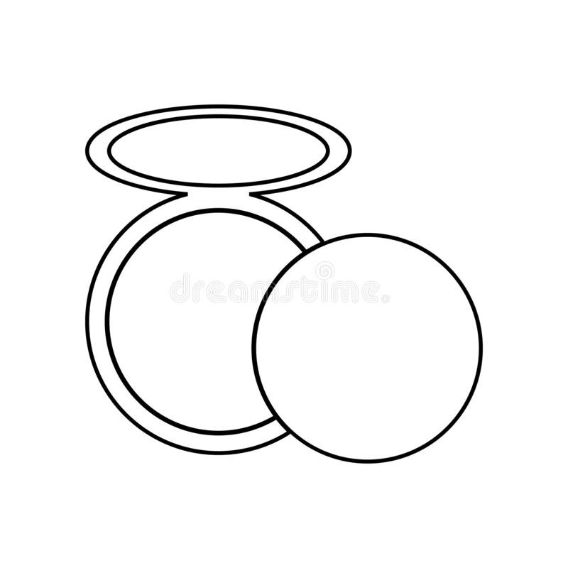 Powder icon. Element of Beauty salon for mobile concept and web apps icon. Outline, thin line icon for website design and. Development, app development on white royalty free stock image