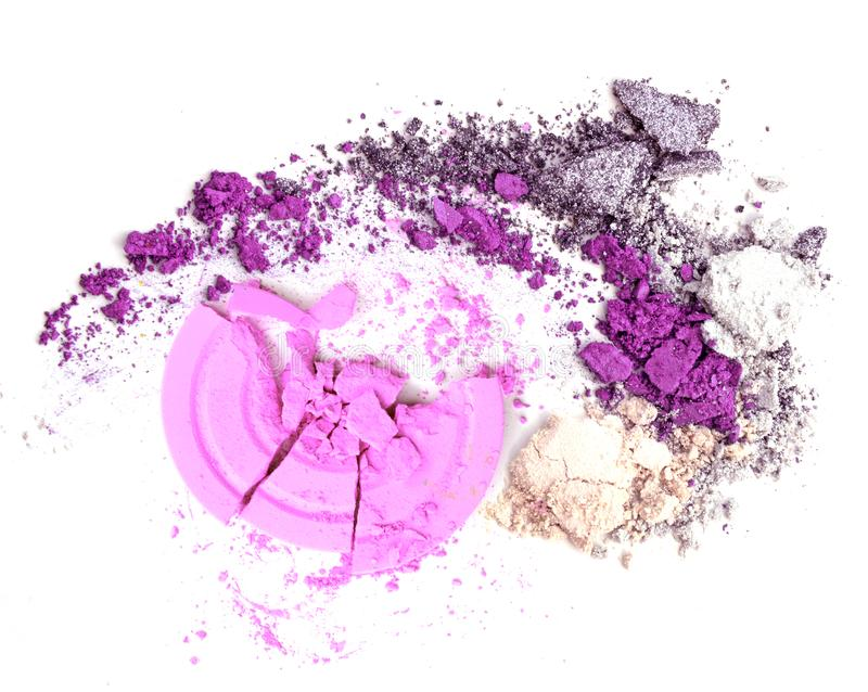 Powder make up. Pink and purple color stock photos