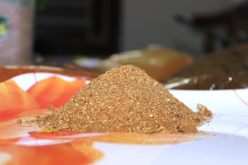 Indian spice powder stock images